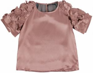girls luxury silk tunic