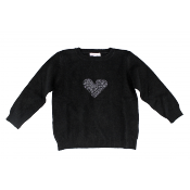 Moon et Miel heart jumper    ONLY 2y