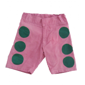 Wovenplay pink/green dot shorts