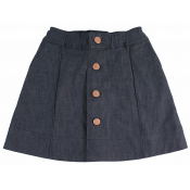Flora and Henri denim skirt