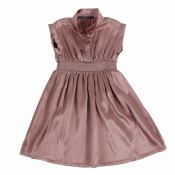 Lamantine rose silk dress