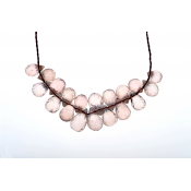 Littl by Lilit rose quart necklace