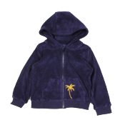 Mini Rodini terry palm zip hoodie