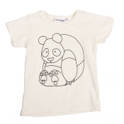 Mini Rodini DIY panda pen tee ONLY size18M LEFT